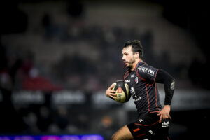 Toulouse's player Clement Poitrenaud in action during the French Top 14 rugby union match Stade Toulousain vs La Rochelle at the Ernest Wallon Stadium in Toulouse, FRANCE - 10/01/2015.