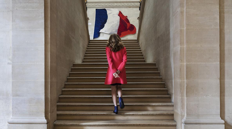 Nicole Belloubet, juriste et femme politique française, membre du Conseil constitutionnel depuis le 14 mars 2013. Au siège du Conseil constitutionnel, situé dans l'aile Montpensier du Palais Royal