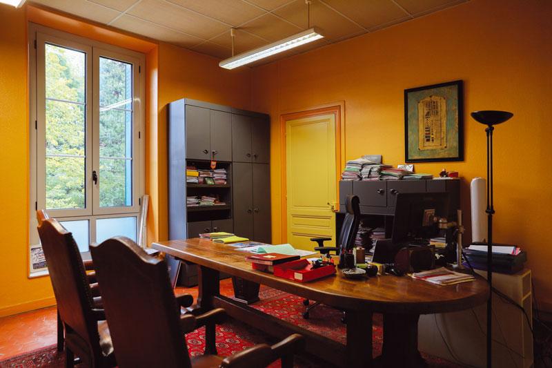 L'ancien bureau de Jean Castex à l'Hôtel de ville de Prades.
